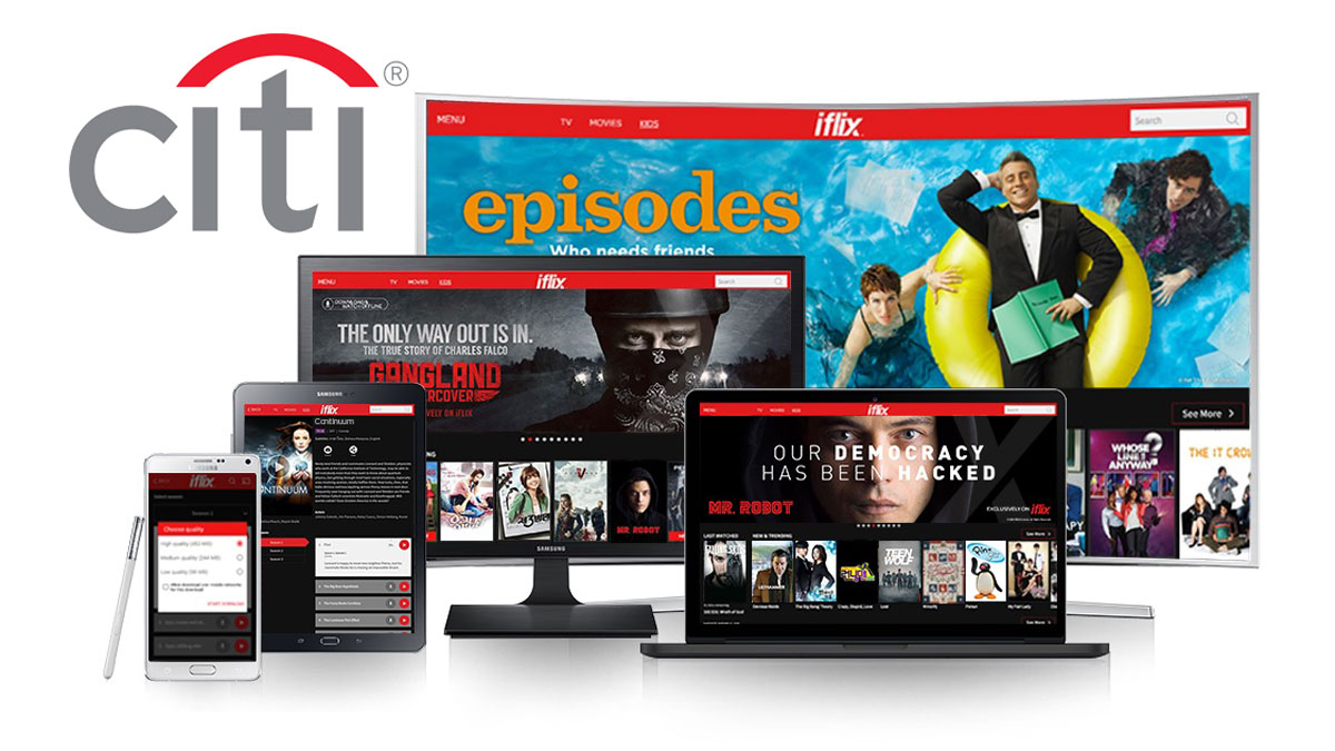 Enjoy unlimited access to iflix with Citi credit cards