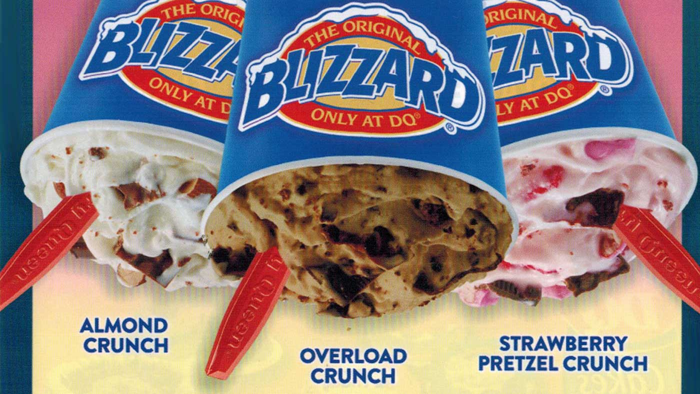 Nestle Crunch Blizzard, Dairy Queen's Blizzard of the Month
