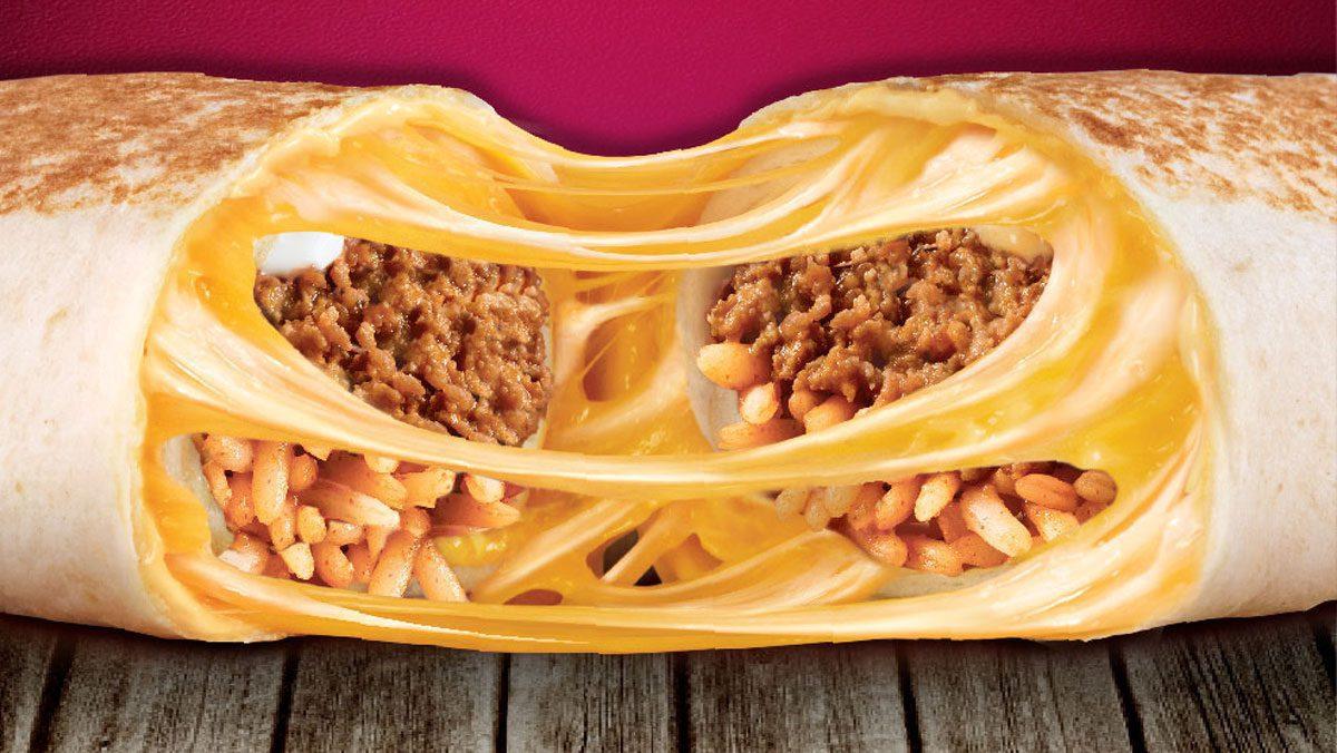 Quesarito: A Quesadilla and Burrito Mash-Up only at Taco Bell