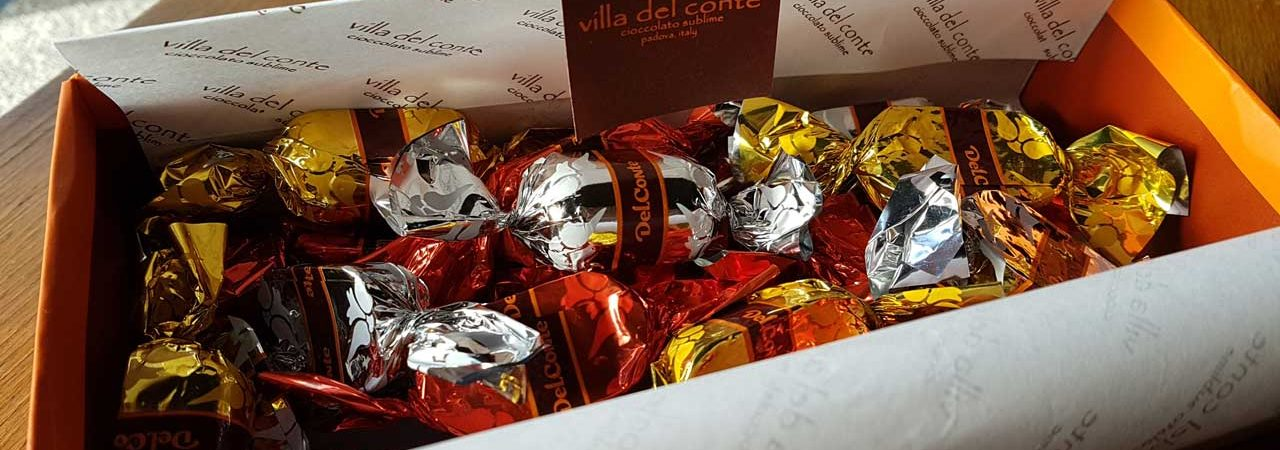 Villa del Conte box of chocolates