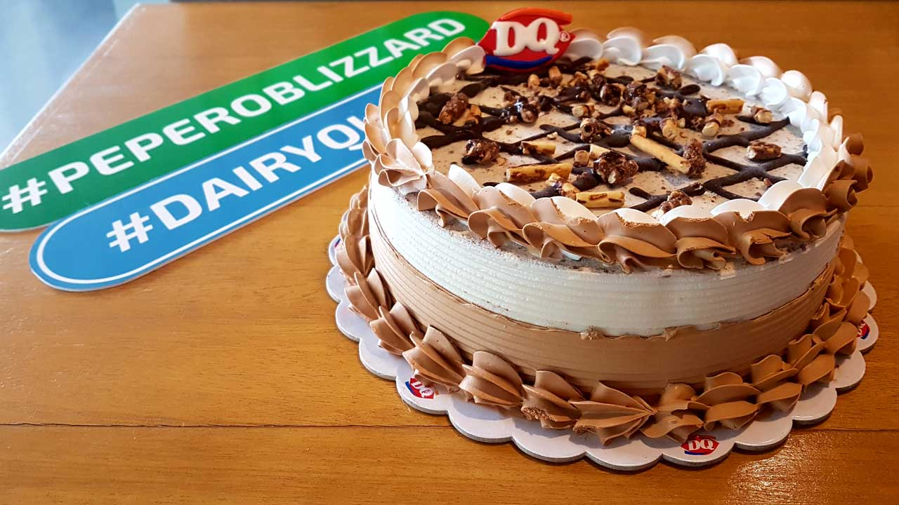 Pepero Blizzard Ice Cream Cake