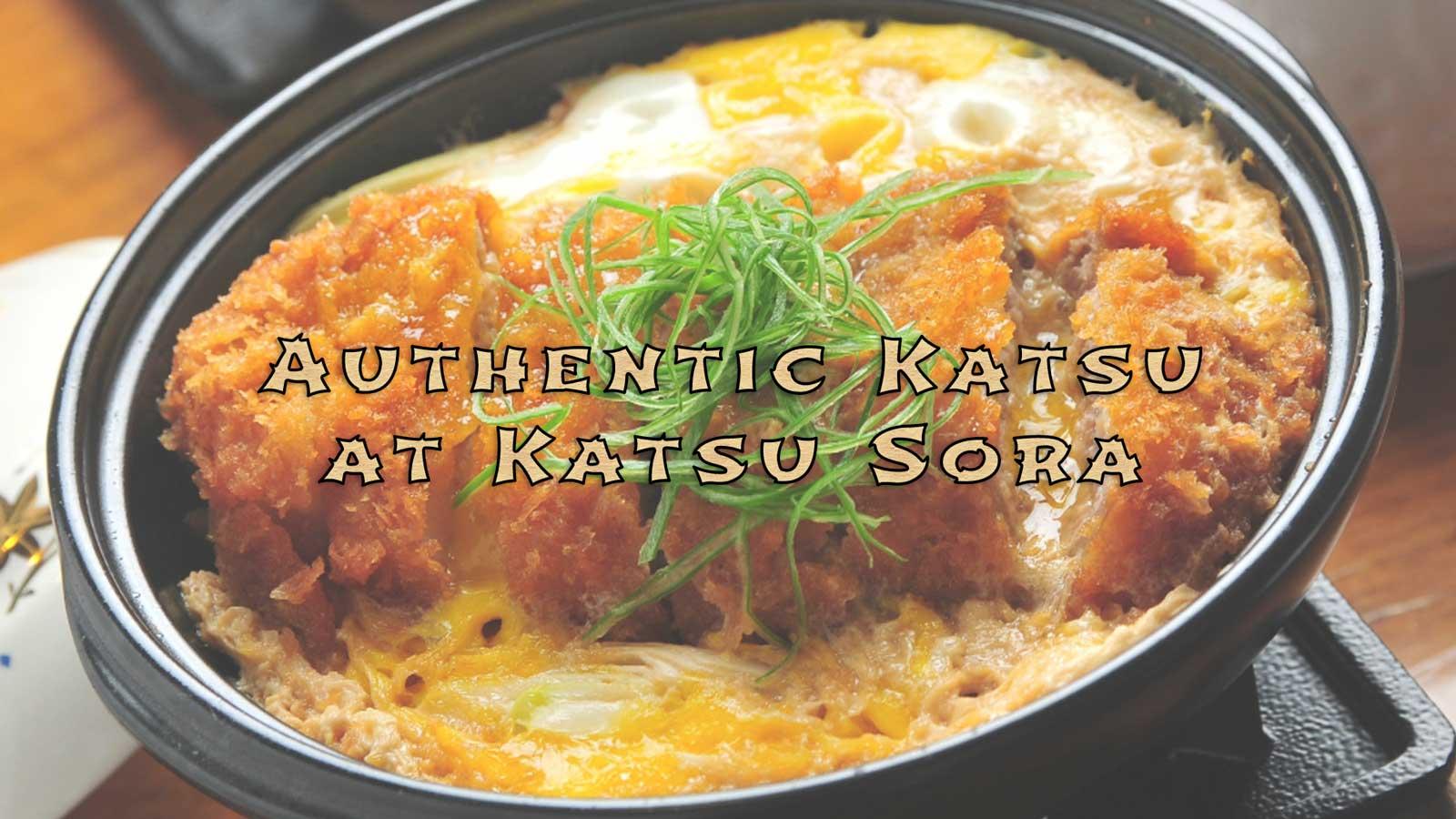 Authentic Tonkatsu experience at Katsu Sora