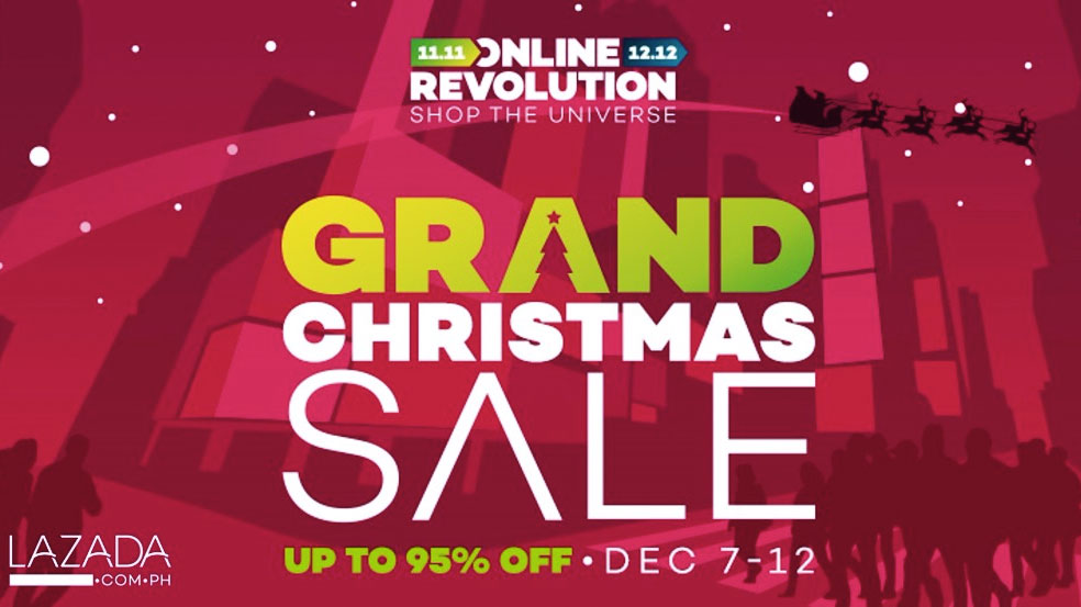 Lazada Philippines Online Revolution Grand Christmas Sale