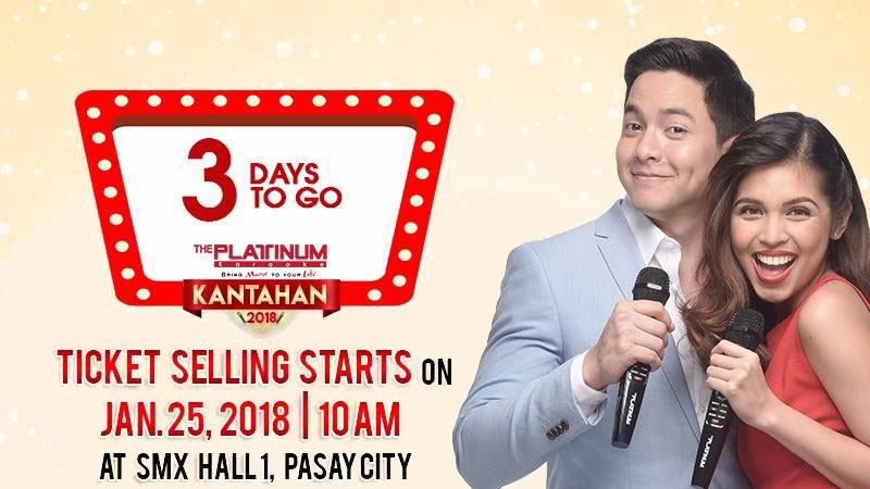 3 days to Platinum Karaoke Kantahan 2018