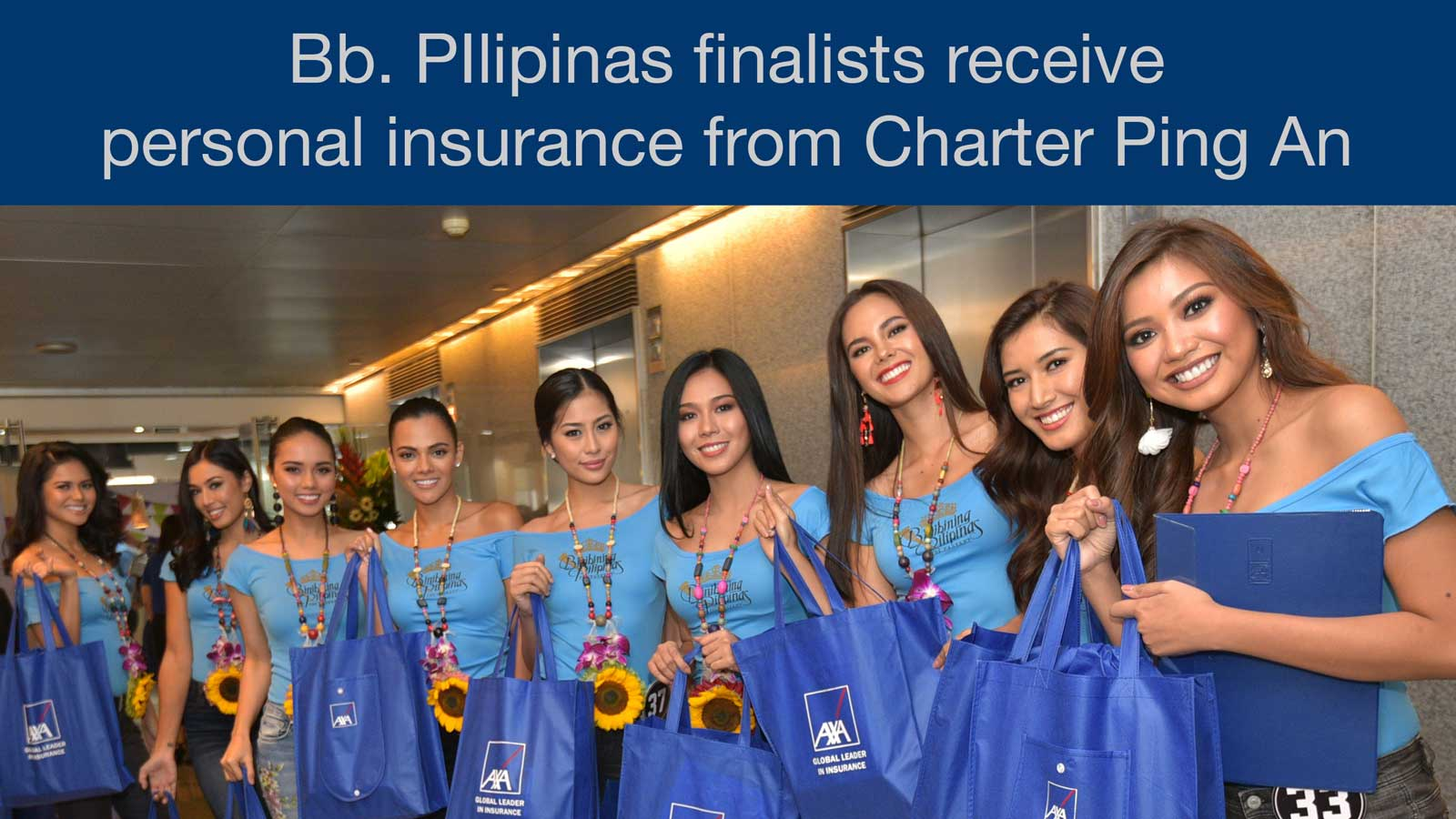 Bb. Pilipinas 2018 candidates receive personal insurance coverage from Charter Ping An