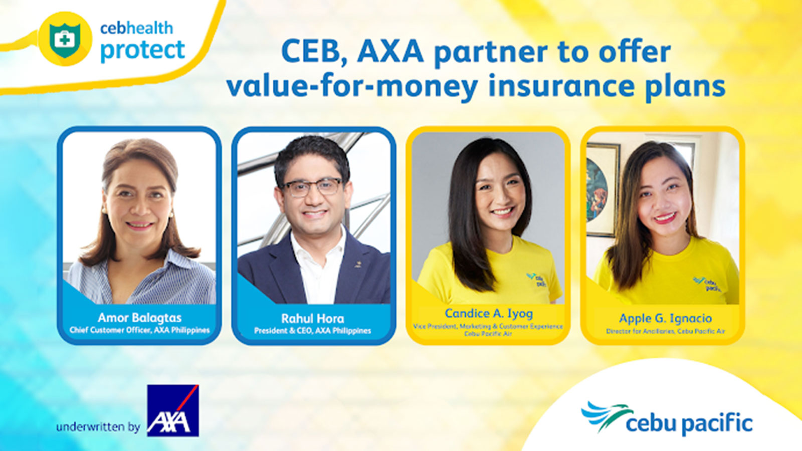 AXA Philippines launches CEB Health Protect with Cebu Pacific