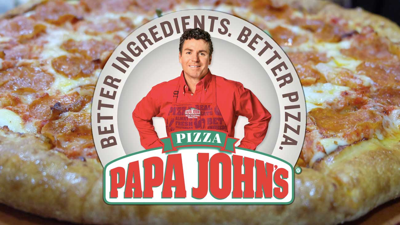 Papa John's better ingredients better pizzas