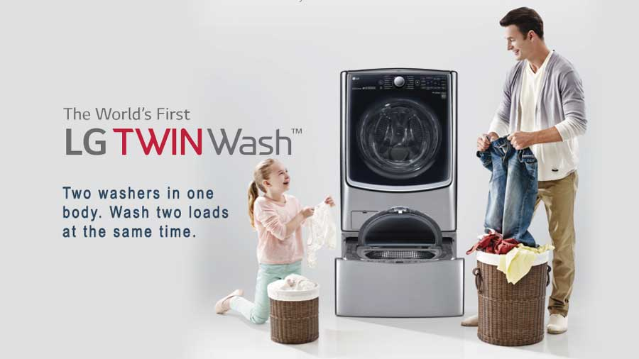 LG Twinwash: redefining the concept of laundry