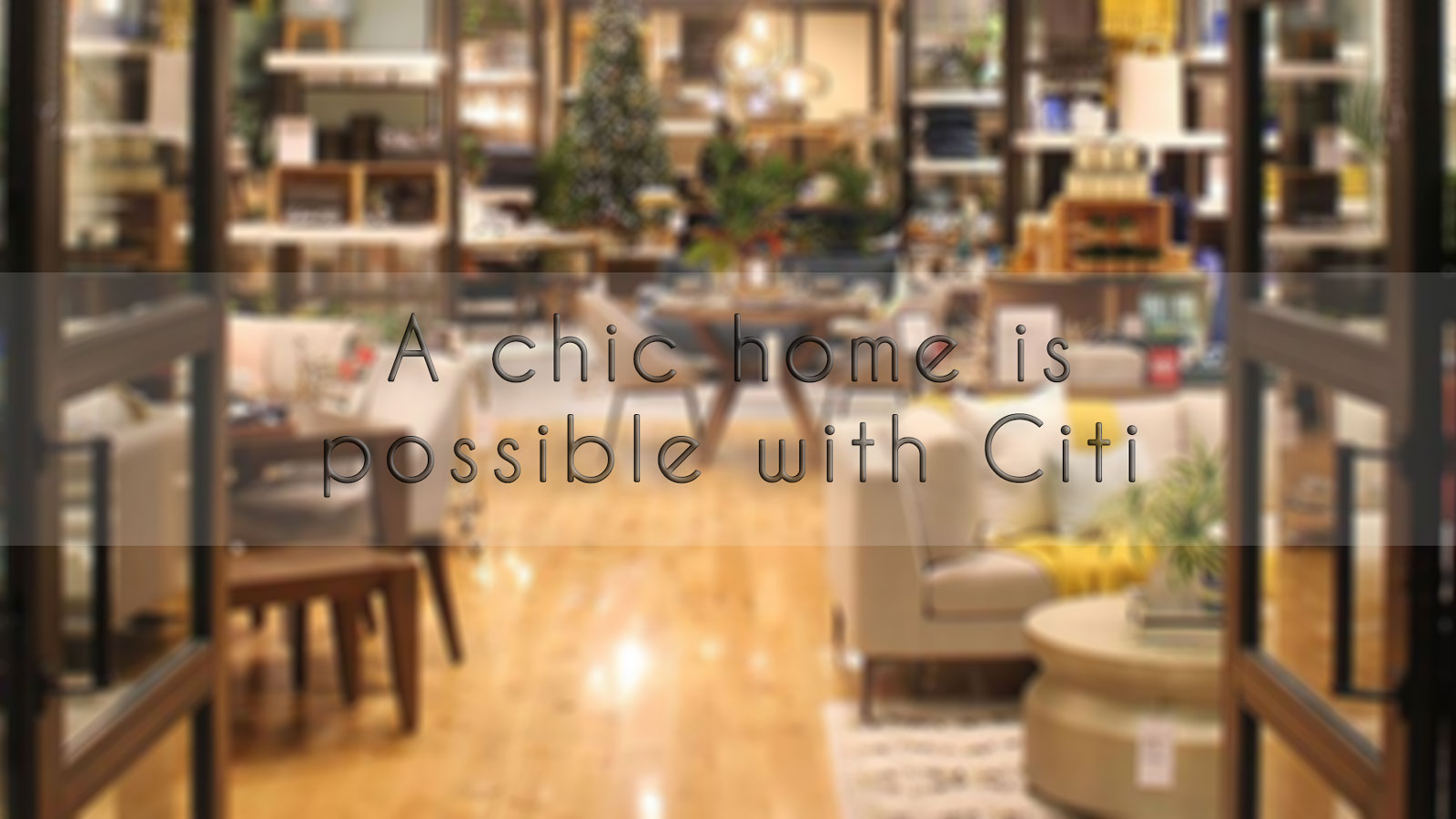 Chic Furniture from Pottery Barn and West Elm through Citi
