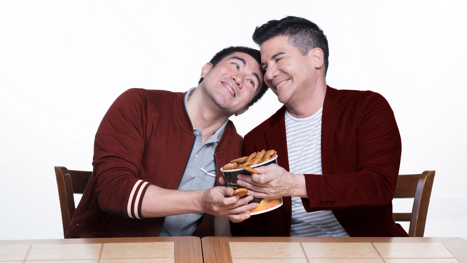 Luis and Edu Manzano for Shakey's #lucky2018 meal deal