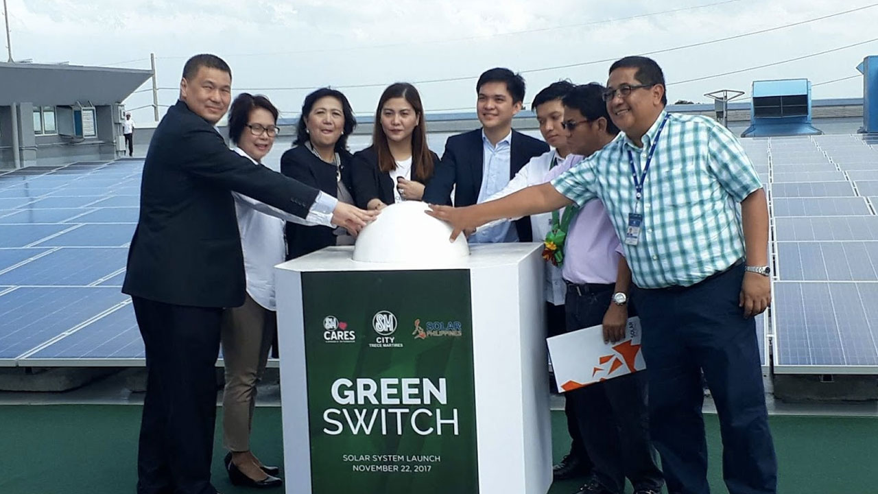 SM City Trece Martires makes the green switch
