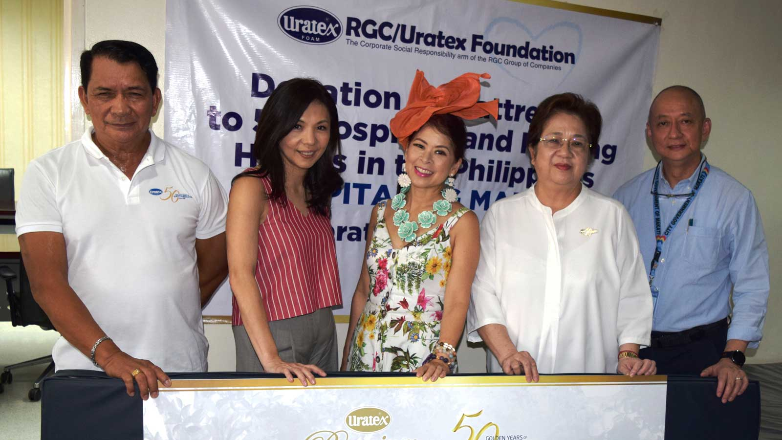 Tessa and Kaye partner with Uratex for meaningful CSR