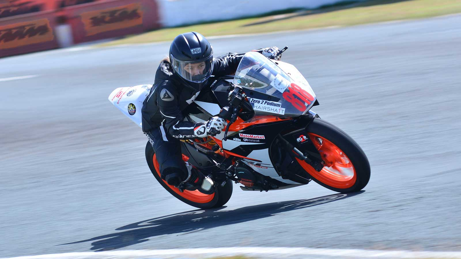 Motorcycle riders get to experience racing