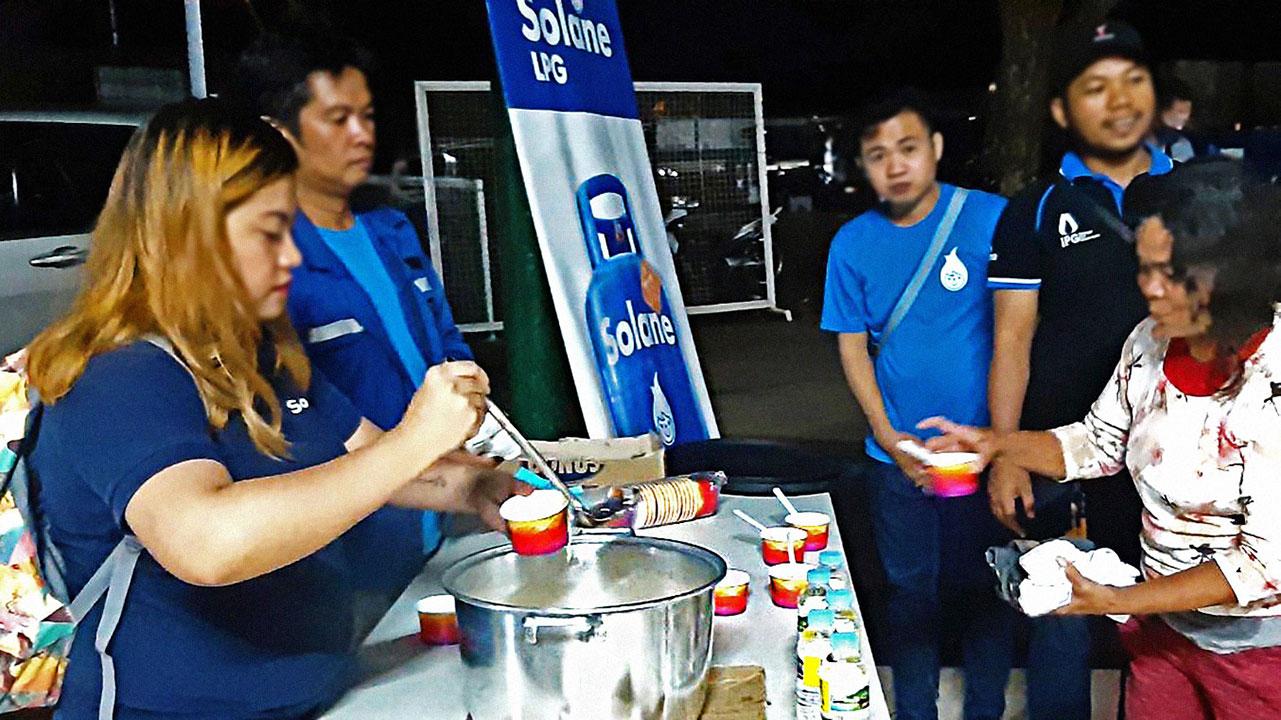 Solane conducts relief operations in Batangas