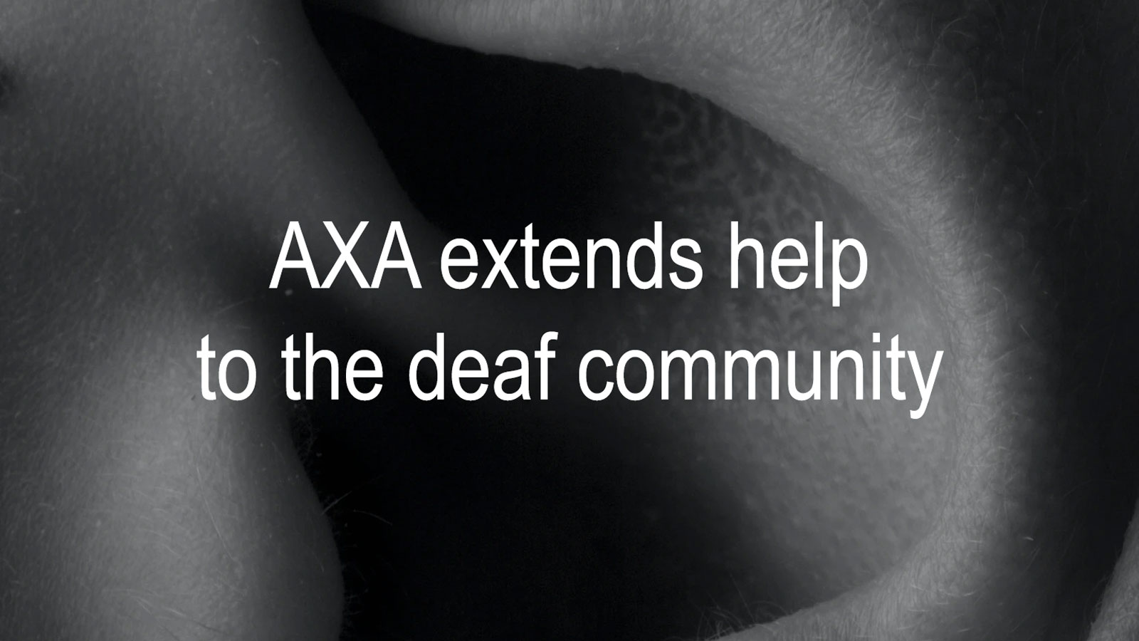 AXA extends help to the deaf community amidst COVID-19