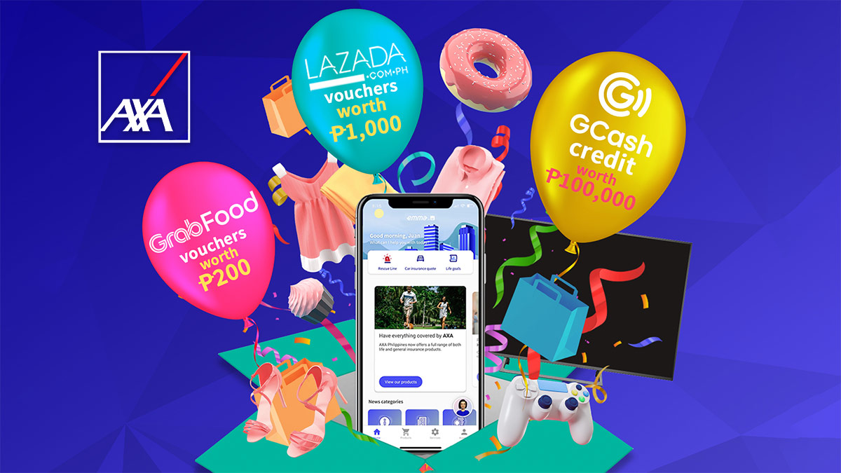 Win P100,000 and free vouchers from AXA Philippines!