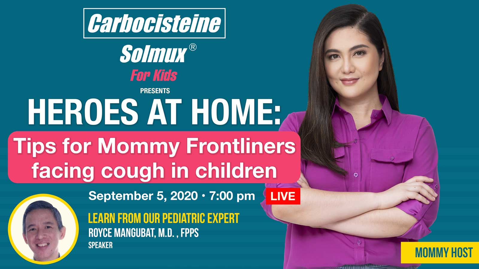 HEROES AT HOME: Tips for Mommy Frontliners Facing Cough in Children